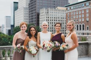 bride and bridesmaids - Image by: Angela Renee Photography | http://jessicadum.com/portfolio/courtney-abe/