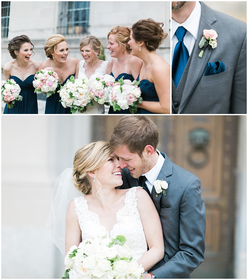 Navy + Blush Wedding Inspiration | Downtown Indianapolis and CANAL 337 Wedding by Cory + Jackie Photography & Jessica Dum Wedding Coordination