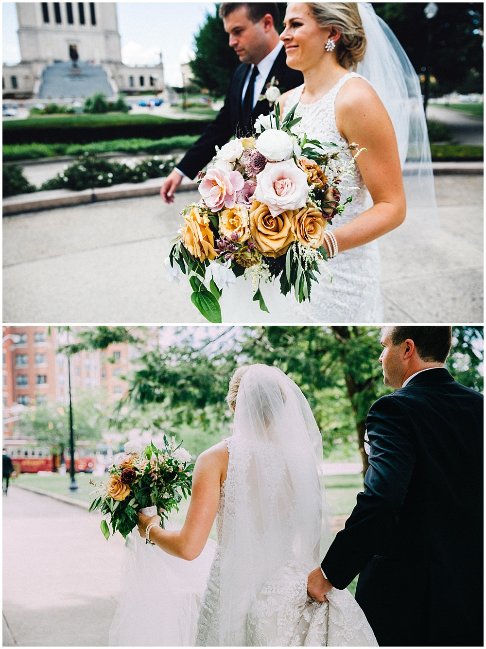 Bride and Groom summer wedding | Downtown Indianapolis Wedding by Caroline Grace Photography & Jessica Dum Wedding Coordination