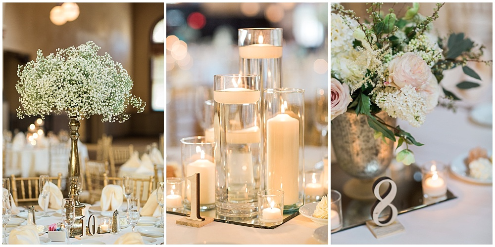 Blush, white and green wedding tablescape details | Downtown Indianapolis Wedding by Gabrielle Cheikh Photography & Jessica Dum Wedding Coordination