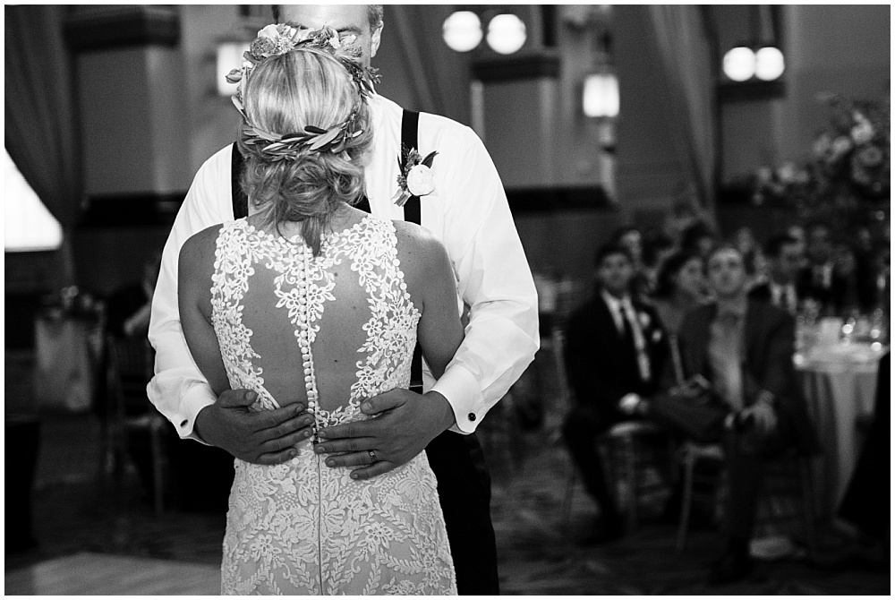 Bride and Groom first dance portrait | Downtown Indianapolis Wedding by Caroline Grace Photography & Jessica Dum Wedding Coordination