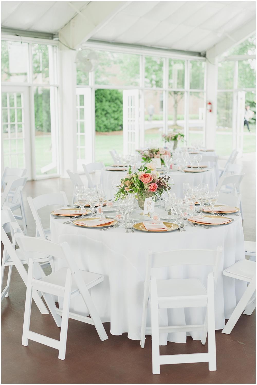 Blush, gold and white garden pavilion wedding | Ritz Charles Garden Pavilion Wedding by Stacy Able Photography & Jessica Dum Wedding Coordination