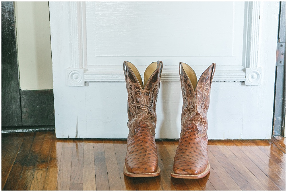 Groom's cowboy boots | Family Farm wedding by SB Childs Photography & Jessica Dum Wedding Coordination