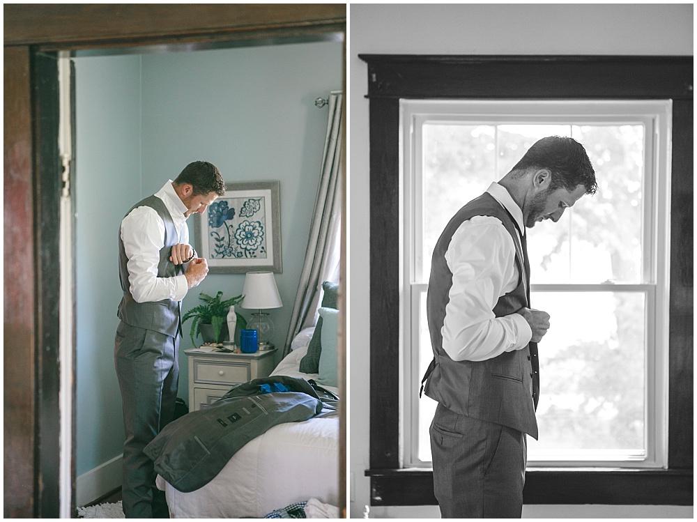 Groom getting ready | Family Farm wedding by SB Childs Photography & Jessica Dum Wedding Coordination