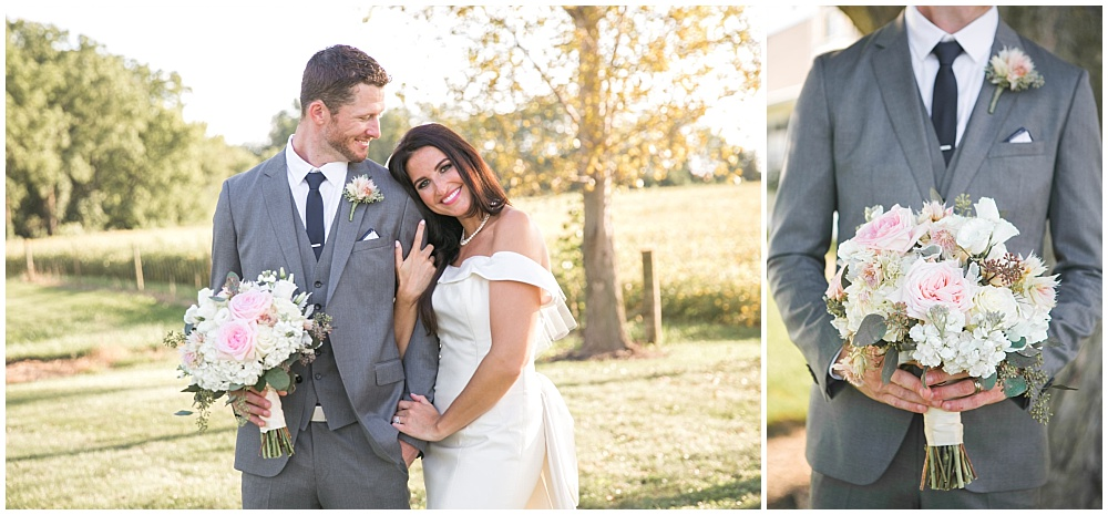 Grey and blush wedding inspiration | Family Farm wedding by SB Childs Photography & Jessica Dum Wedding Coordination