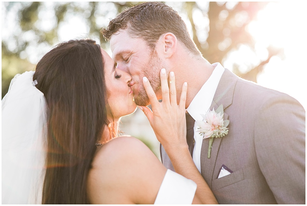 Bride and groom outdoor sunset portraits | Family Farm wedding by SB Childs Photography & Jessica Dum Wedding Coordination