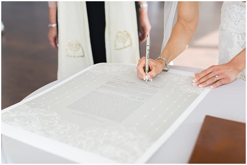Signing of the Ketubah | D'Amore Wedding by Ivan & Louise Images & Jessica Dum Wedding Coordination