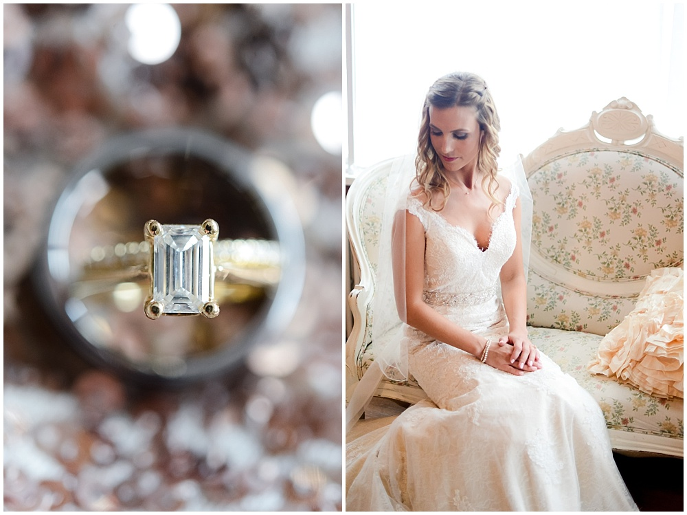 Soft bridal portrait and gold rings | Mustard Seed Gardens Wedding by Sara Ackermann Photography & Jessica Dum Wedding Coordination