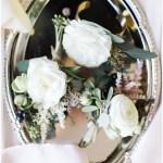 White wedding corsages   Laurel Hall wedding with Ivan & Louise Images + Jessica Dum Wedding Coordination
