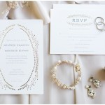 White and gold invitation suite   Laurel Hall wedding with Ivan & Louise Images + Jessica Dum Wedding Coordination