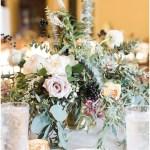Fall foliage centerpiece   Laurel Hall wedding with Ivan & Louise Images + Jessica Dum Wedding Coordination