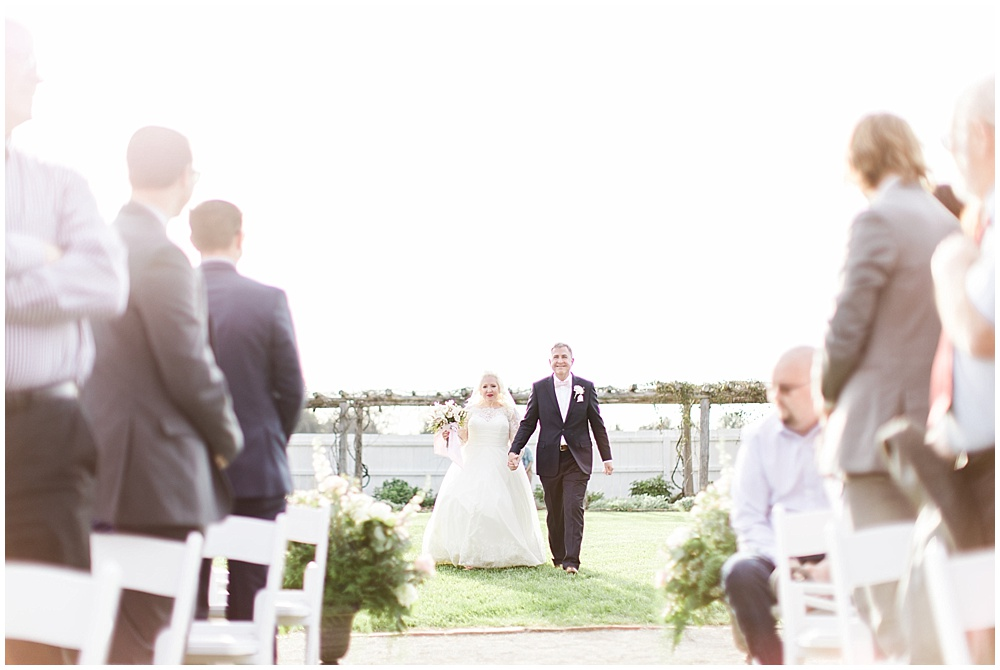 outdoor ceremony, navy and pink southern wedding | Ivan & Louise Images and Jessica Dum Wedding Coordination