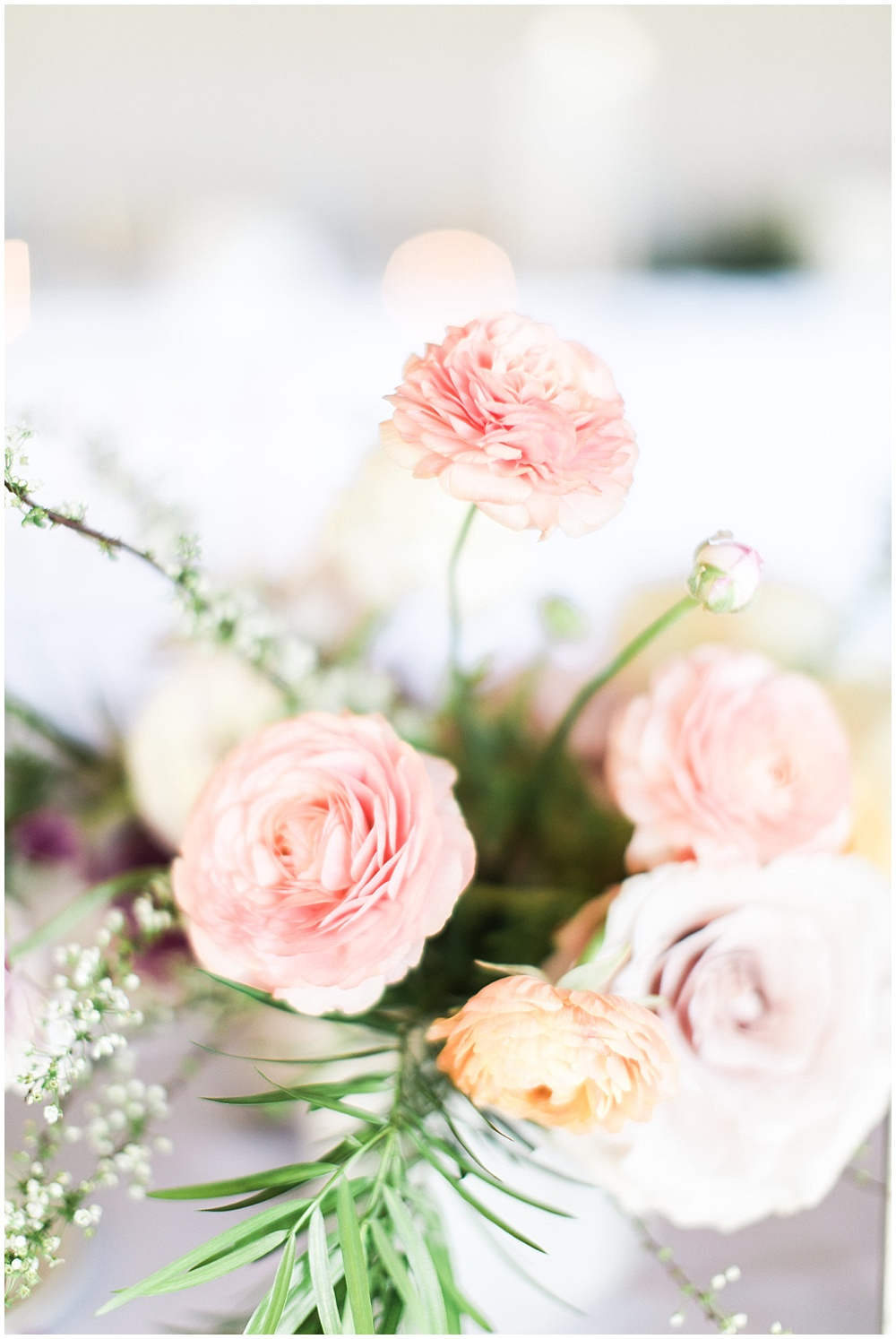 pink centerpieces, Spring floral + gold wedding | Ivan & Louise Images | Jessica Dum Wedding Coordination
