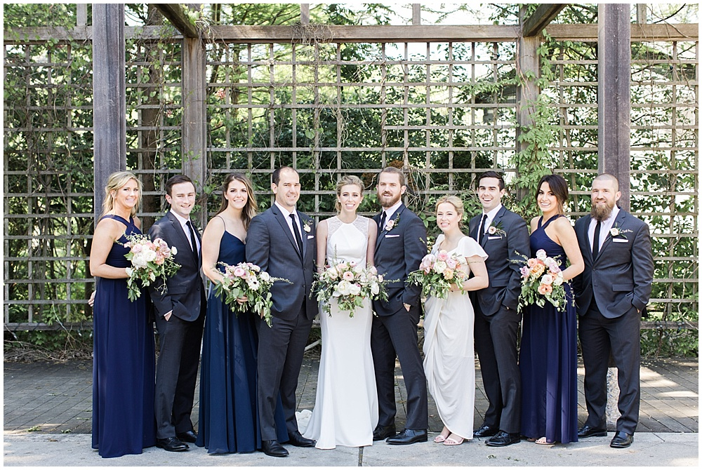 navy bridal party, Spring floral + gold wedding | Ivan & Louise Images | Jessica Dum Wedding Coordination