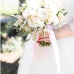 Blush and white bridal bouquet, navy and pink southern wedding | Ivan & Louise Images and Jessica Dum Wedding Coordination