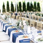 Family style wedding tablescape, navy and pink southern wedding | Ivan & Louise Images and Jessica Dum Wedding Coordination