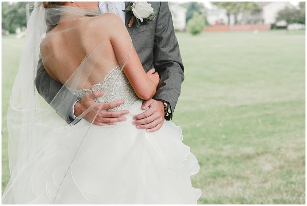 Soft bridal portrait of lace wedding dress | Chicago urban rustic wedding | Sandra Armenteros Photography + Jessica Dum Wedding Coordination