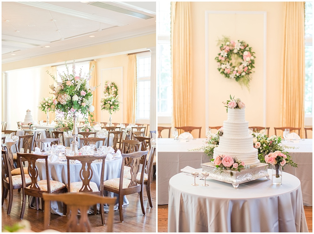Elegant gray and pink country club wedding | Sami Renee Photography + Jessica Dum Wedding Coordination