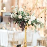 kelly lenard flowers; draped lighting; blush and gold wedding; Mexican inspired gold & floral wedding; Crowne Plaza Indianapolis Downtown Union Station; neutral floral and greenery wedding|Cory + Jackie and Jessica Dum Wedding Coordination