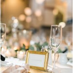 blush and gold wedding; gold placecard frames; rose napkin fold; Mexican inspired gold & floral wedding; Crowne Plaza Indianapolis Downtown Union Station; neutral floral and greenery wedding|Cory + Jackie and Jessica Dum Wedding Coordination