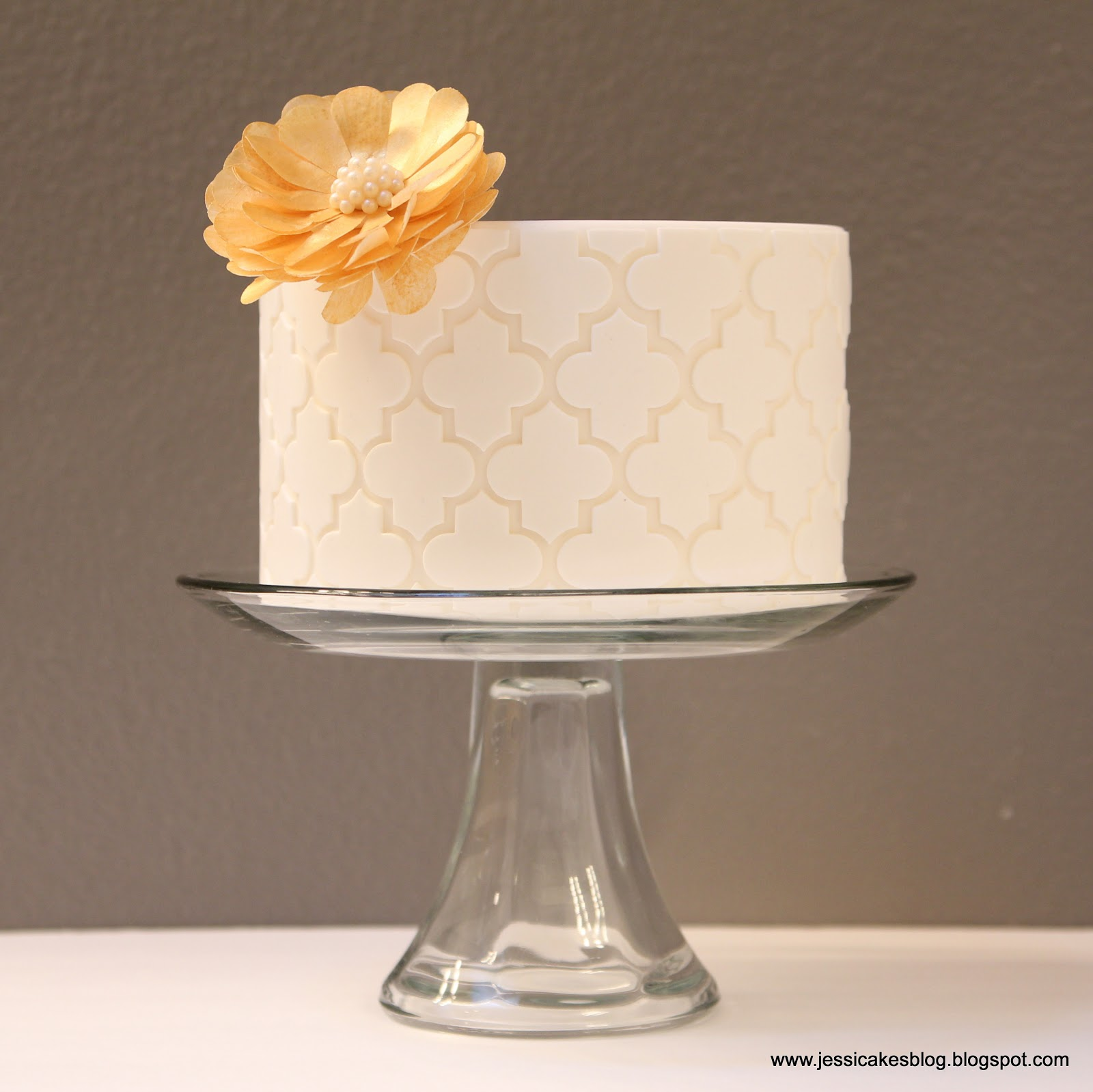 Cake Decorations Wafer Paper : Moroccan Cake + A Wafer Paper Flower Tutorial - Jessica ...