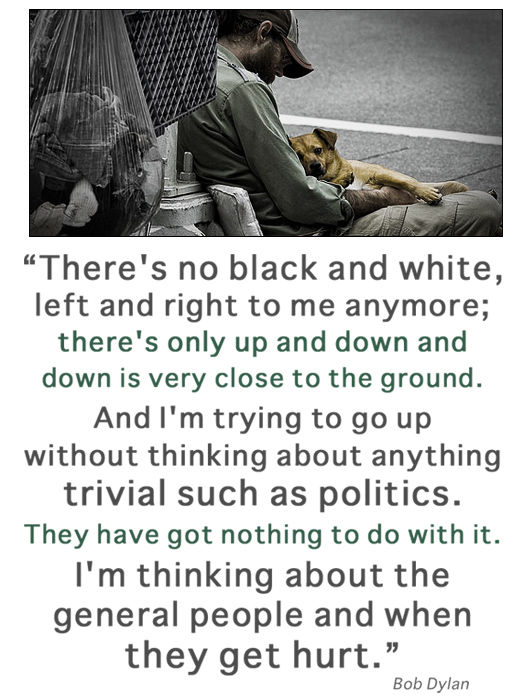 Bob Dylan Quote | On Trivial Politics, and what really matters