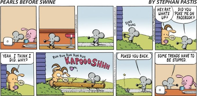 Pearls Before Swine Facebook Poke