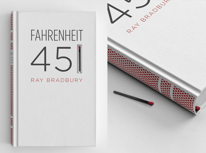 Fahrenheit 451 Book Cover by Elizabeth Perez