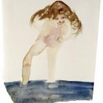 "Mari Sunna: ""Smell of a girl"" 2002. Tusch på papper. Galerie Anhava"
