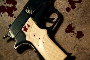 gun with blood