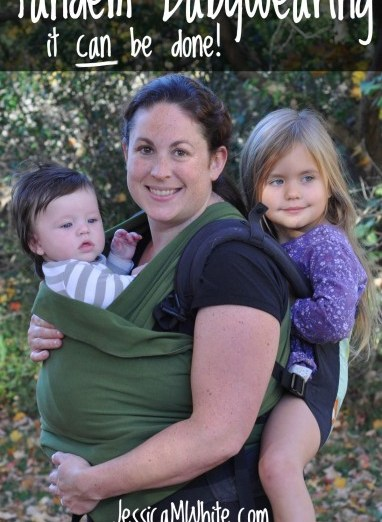 Tandem Babywearing: It Can Be Done! from JessicaMWhite.com for GretchenLouise.com