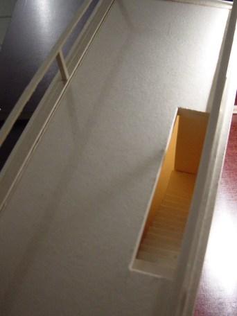 Schrägansicht Dachtreppe