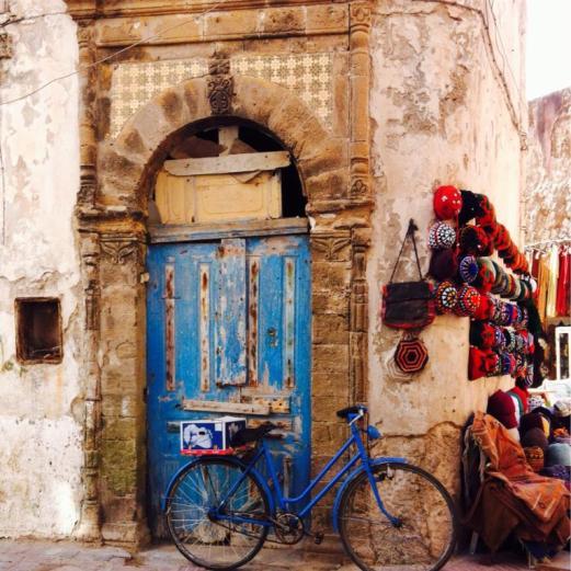 blue door, blue bike, Essaouira, Morocco