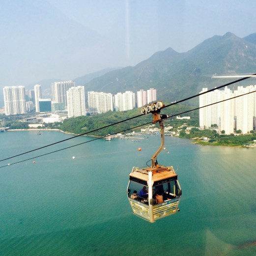 view from cable car to big buddha