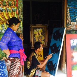 Artist in his studio Ubud Bali