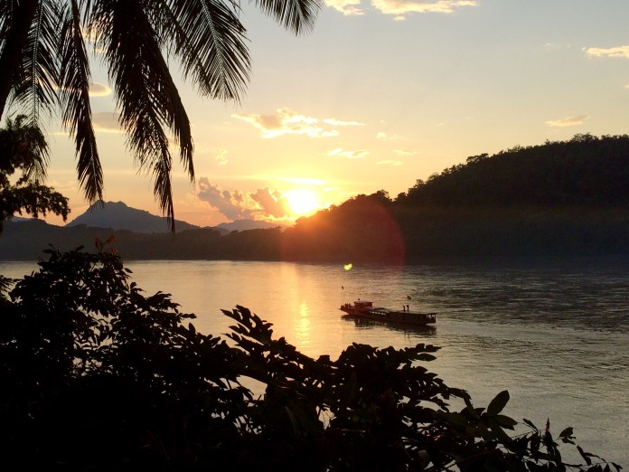 Luang Prabang sunset on the Mekong