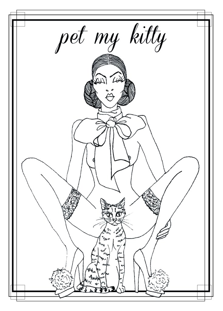 Naughty Notary postcards - kitty