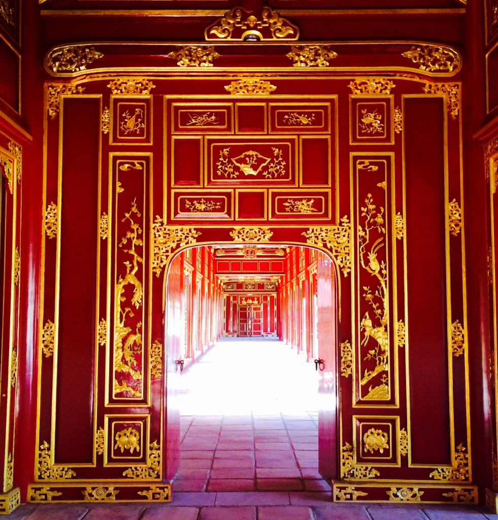 Imperial City Hué red doors