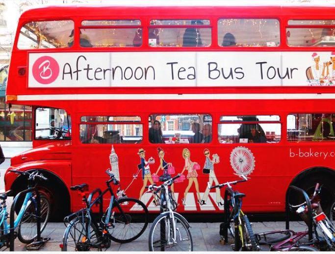 Tea bus tour B bakery london