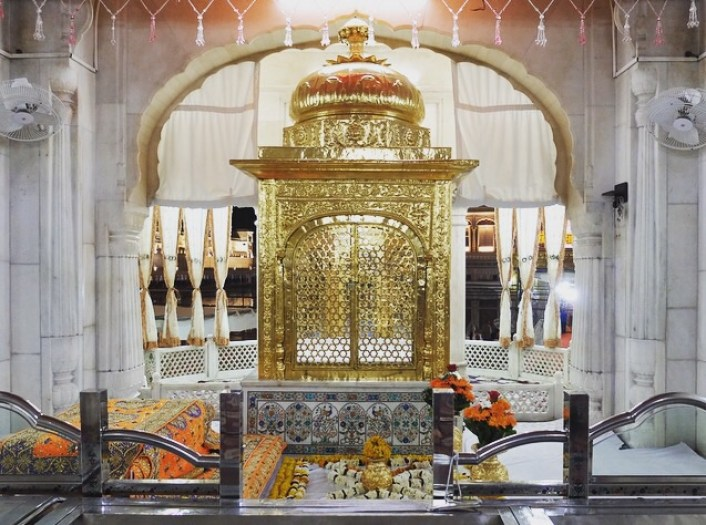 Holy Book at the Golden Temple Amritsar