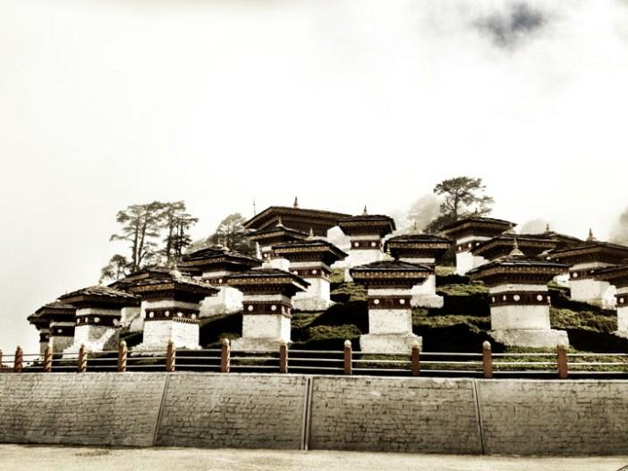 108 stupas thimphu bhutan