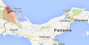 bocas del toro panama map