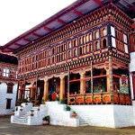 Buddhist shrine at Tashichho Dzong in Thimphu