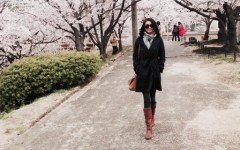 Wendy Kyoto Japan cherry blossoms