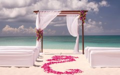 Ritz Carlton wedding beach
