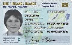 Ireland international passport selfie
