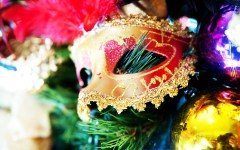 Tracy Cheng Mardi Gras mask