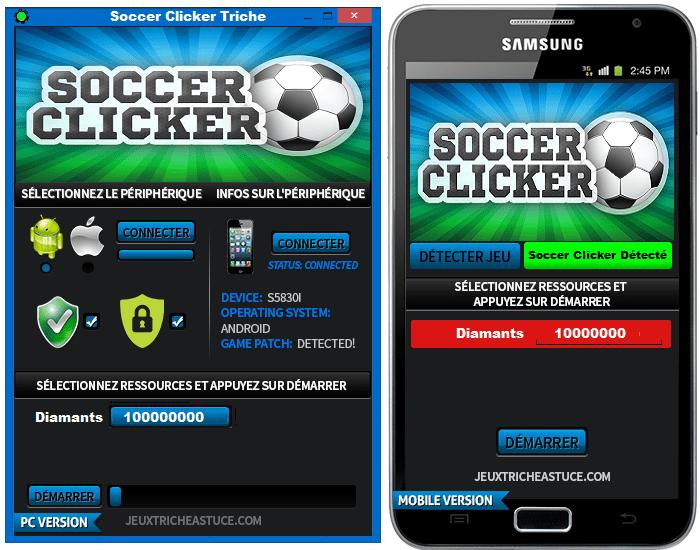 Soccer Clicker Triche,Soccer Clicker Astuce,Soccer Clicker Pirater