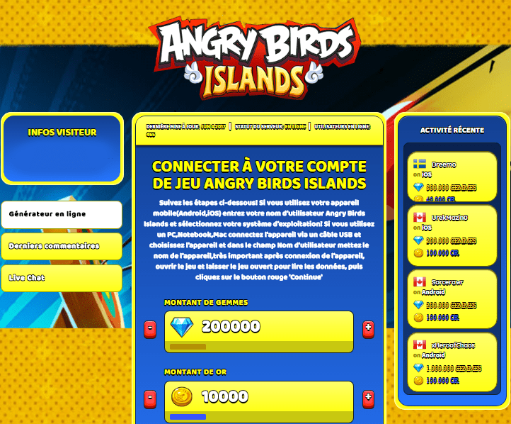 Angry birds islands astuce triche en ligne gemmes et or - Angry birds gratuit en ligne ...