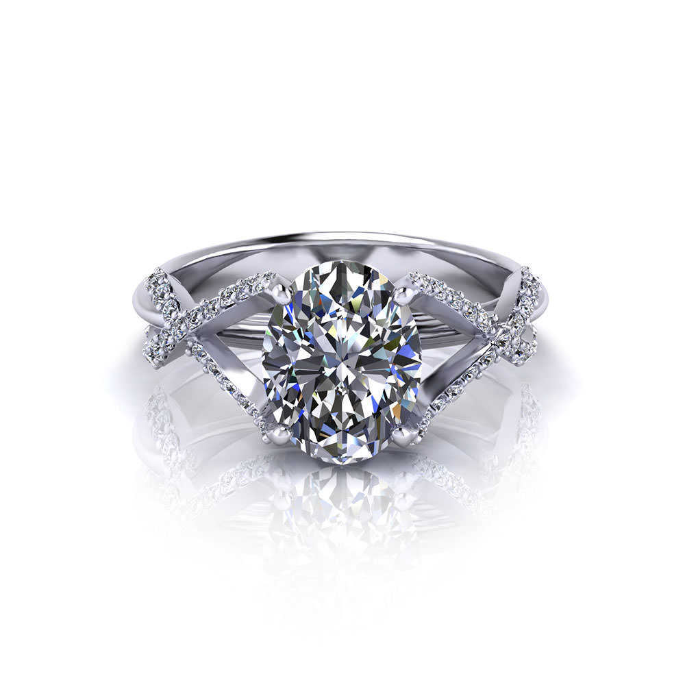 Enthralling Crossover Oval Engagement Ring Crossover Oval Engagement Ring Jewelry Designs Oval Engagement Rings Under 2000 Oval Engagement Rings Without Halo wedding rings Oval Engagement Rings